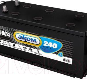 Автомобильный аккумулятор AKOM 6СТ-240 Евро+EFB / 6СТ-240L 3