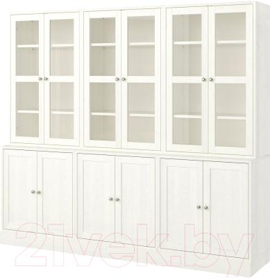 Шкаф с витриной Ikea Хавста 992.659.73