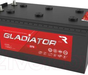 Автомобильный аккумулятор Gladiator EFB Евро 3
