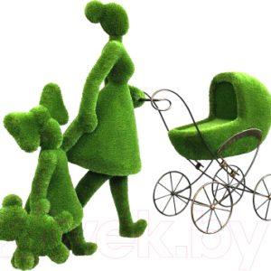 Каркасное топиари F3DF Мама с детьми