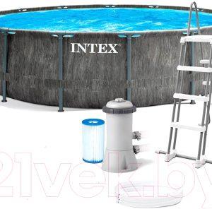 Каркасный бассейн Intex Greywood Prism Frame Premium / 26744NP