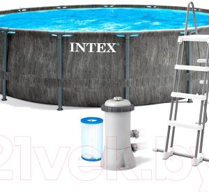 Каркасный бассейн Intex Greywood Prism Frame Premuim / 26742NP