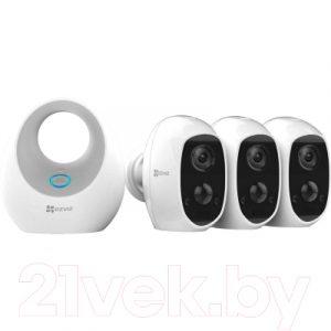 Комплект видеонаблюдения Ezviz W2D + 3 камеры C3A